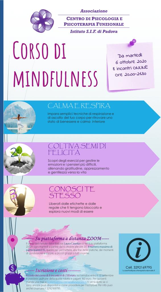 volantino corso online mindfulness